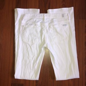 7 for All Mankind Bootcut White Jeans